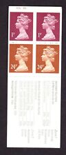 Great Britain 50p Archaeology No2 booklet Cyl B35 B2 ave perfs, Fb60, fine,