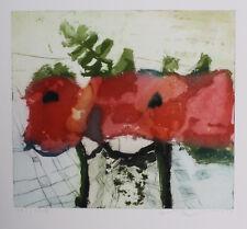 Klaus Fussmann Rosen in Glasvase, rote Rosen, spitzen Blatt, Galeriepreis 2000,-