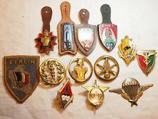 lot de 13 insignes français anciens - dont PARA
