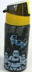 STAR WARS Flip Up Water Bottle Disney Store NIP 12oz  DARTH VADER STORMTROOPERS