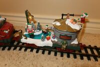 New Bright Holiday Express TANKER CAR Animated Ice Skating elf Frozen Pond re