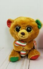 Ty Beanie Boos BELLA Christmas Holiday Bear 6 Inch