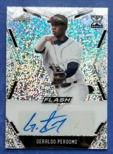 2020 Leaf Flash Baseball GERALDO PERDOMO #BA-GP1 Silver Rookie XRC Auto Arizona
