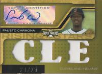Fausto Carmona 2008 Topps Triple Threads auto autograph card 117 /75
