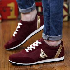 Fashion Homme Sport Chaussures à Lacet Gym Jogging Respirable Classique Rouge 42