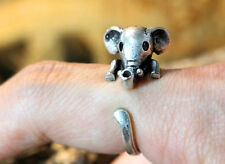 Elephant Ring Africa Adjustable Size Animal Wild Silver Jewelry