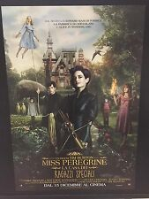Miss Peregrine Tim Burton (2016) Poster originale ITA CINEMA 100X140cm
