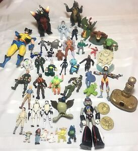 Vintage To Modern Action Figure +more Toy Lot mixed 80s 90s 00s DC Marvel Bandai