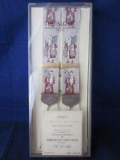 TRAFALGAR Silk Suspenders Braces Santa Old St Nick LE 1990s NEW in BOX