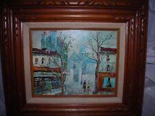 Art,Europe scene, Impressionism Oil, signed,Estate find #3