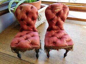 rare chaises anciennes pour poupée