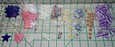 108 Appliques Sewing Trim Lot - 12 Each Of 9 Designs - Hearts Flowers Stars Bows