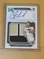 2019 National Treasures Carsen Edwards Auto RC Hot SSP /25 RPA Rookie Autograph