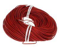5M Lederband Rund Ø 2mm Rot Lederschnur für Schmuck basteln Leder Halskette C153