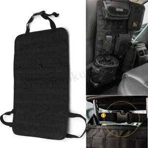 Large Tactical MOLLE Car Seat Back Organizer Pocket Panel Cover Storage Ba
