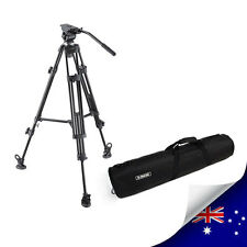 PROFESSIONAL VIDEO TRIPOD WITH FLUID DRAG HEAD E-7050 + CARRY BAG - NEW