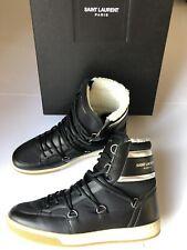 SAINT LAURENT Men's High Top Leather Sneakers Boots black 40 bis 44 NEU/BOX