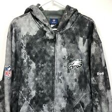 Philadelphia Eagles Reebok NFL Mens XL Zip Up Hoodie Geometric Grey