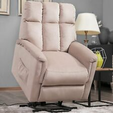 Power Lift Chair Soft Fabric Recliner Lounge Living Room Sofa w/Remote Control