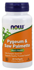Pygeum & Saw Palmetto 25mg/80mg & Pumpkin Seed Oil Now Foods 60 Softgel
