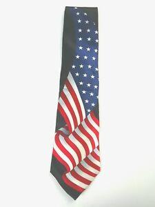American Traditions American Flag Silk Tie Necktie