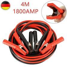 1800Amp 2x4m 10mm² Überbrückungskabel LKW PKW Starthilfekabel Set Starterkabel