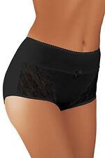 Underwear Midi Brief Ladies Lingerie Knickers Bridal 8-16 Design Bl003 Black 14