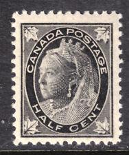 CANADA #66 ½c BLACK, 1897 QV LEAF, F-VF, MNH