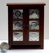 Dollhouse Miniature Pie Safe Kitchen Cabinet 1:12 inch scale H1 Dollys Gallery