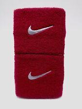"Nike Swoosh Wristbands Red Crush/Wolf Grey 3"" Men's Women's"