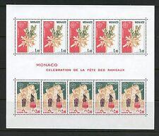 I749  Monaco 1981   Palm Sunday   Europa   FULL SHEET   MNH