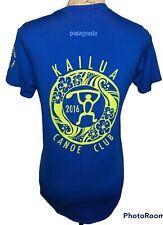 Patagonia Daily L Asia Fit Women's Medium Kailua Canoe Club Hawaii Blue SS
