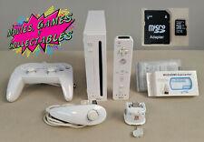 Nintendo Wii White Homebrew Bundle Job lot 16GB SD 160GB HDD SNES NES HDMI