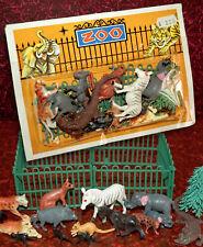 Plastique Zoo Set Animaux neuf dans sa boîte 70er Hong Kong/Piñata de très belle heinerle 22 pces