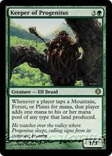 KEEPER OF PROGENITUS Shards of Alara MTG Green Creature — Elf Druid RARE