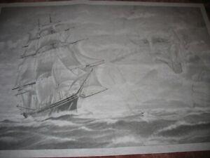 "* TRI CHEM HUGE 7330 SEA CAPTAIN SHIP PIPE OCEAN 24X36"" Picture to paint TRICHEM"
