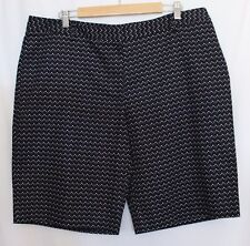SPORTSCRAFT ~ Navy Blue & White Dot Tailored Cotton Dressy Shorts 18 NWT $119.95