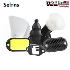 Selens 1 Set Magnetic Flash Honeycomb Grid Sphere Bounce Snoot Diffuser Filters