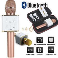 Rose Gold Q7 Microphone Wireless Bluetooth KTV With Speaker Mic Handheld Singing