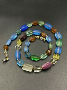 Old antique glass beads and crystals quartz beads from southeast Asian