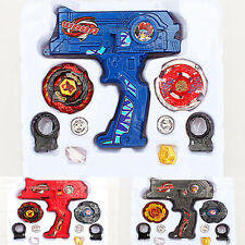 4D Beyblade  Metal Master Fusion Top Rapidity Fight Rare Launcher Dual Grip Set