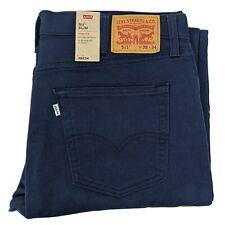 Mens Levi's 511 Navy Blue Slim Fit Stretch Thick Cotton Jeans W36 L32