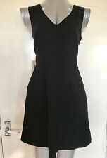FOREVER 21. SIZE MEDIUM, BLACK SLEEVELESS, MINI/SHORT DRESS, BNWT, RRP £16.75