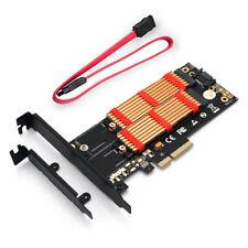 M.2 NVMe SSD NGFF TO PCI-E X4 3.0 Adapter M Key B KEY Dual Interface Riser Card