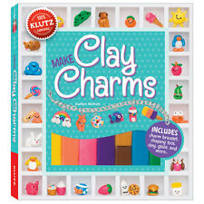 MAKE CLAY CHARMS KIT-Polymer/Fimo-Animals/Food/Beach-Jewelry Craft Idea Book