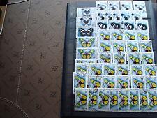camerún 50 sellos mariposas yt nº624 625 625 matasellados - stamp Camerún