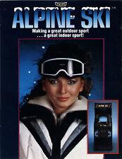 1982 TAITO ALPINE SKI VIDEO FLYER MINT