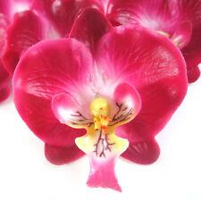 "8X Burgundy Silk Phalaenopsis Flower heads Artificial Orchids lot Wedding 2"""