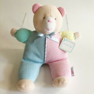 """NWT Eden Pastel Thermal Waffle Weave TEDDY BEAR Plush Baby Toy Lovey Doll 12"""""""