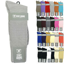 STACY ADAMS DRESS SOCKS Solid 21 Colors Size 6-12 S1001